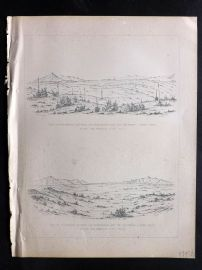 Baird 1857 Antique Print. Prairie between San Bernadino & San Pedro, California